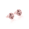 La Luna Rose Compass Earrings - Rose Gold