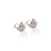 Fortune Cookie Stud Earrings - Silver