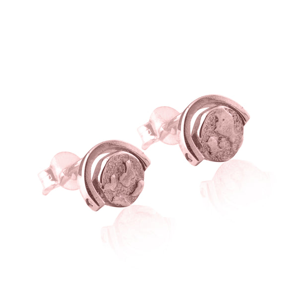 Globetrotter Spinning Globe Earrings - Rose Gold