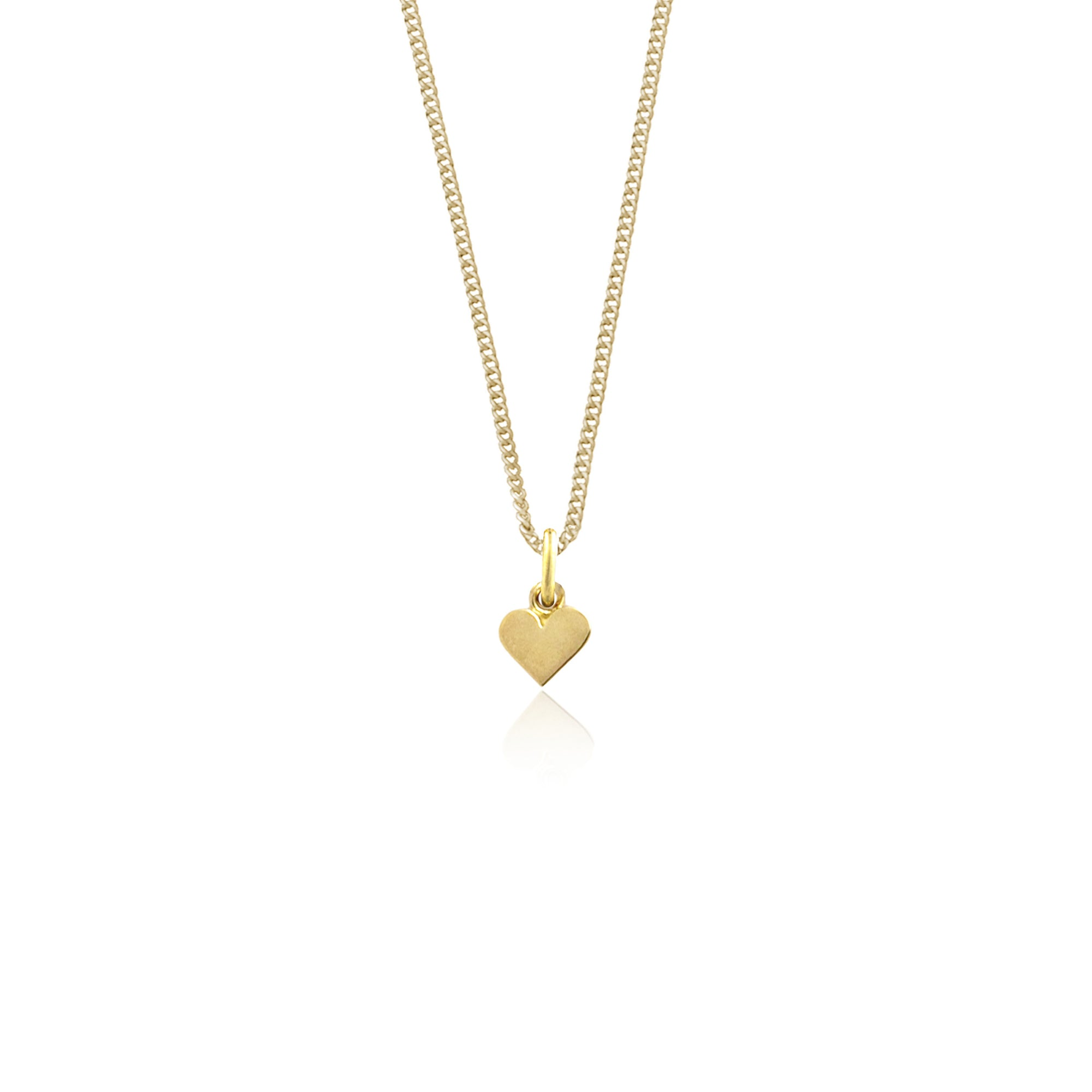 SOLID GOLD - Single Heart of Gold Necklace