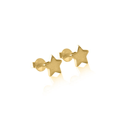Star Stud Earrings Gold - La Luna Rose Jewellery Bon Voyage Collection