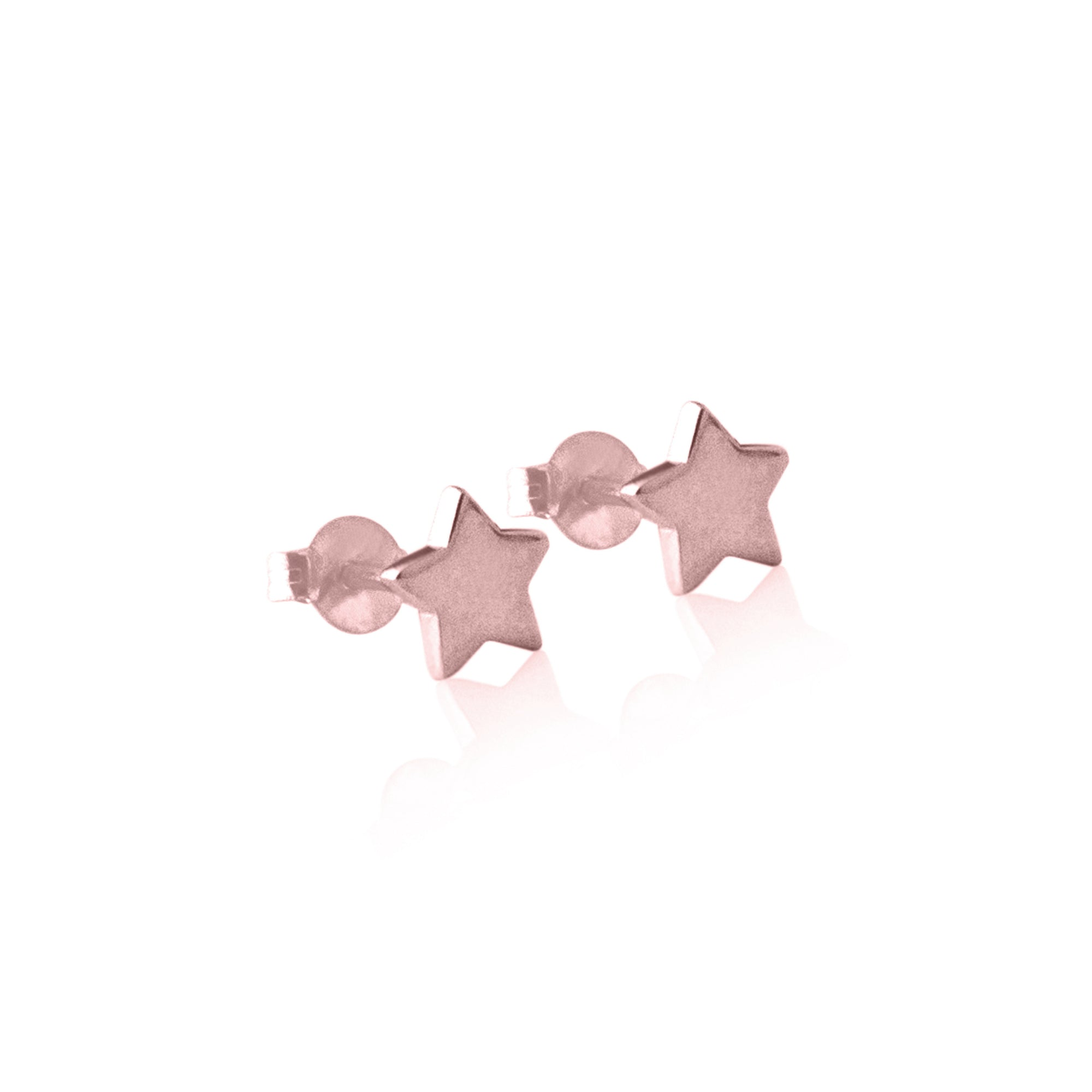 Star Stud Earrings Rose Gold - La Luna Rose Jewellery Bon Voyage Collection