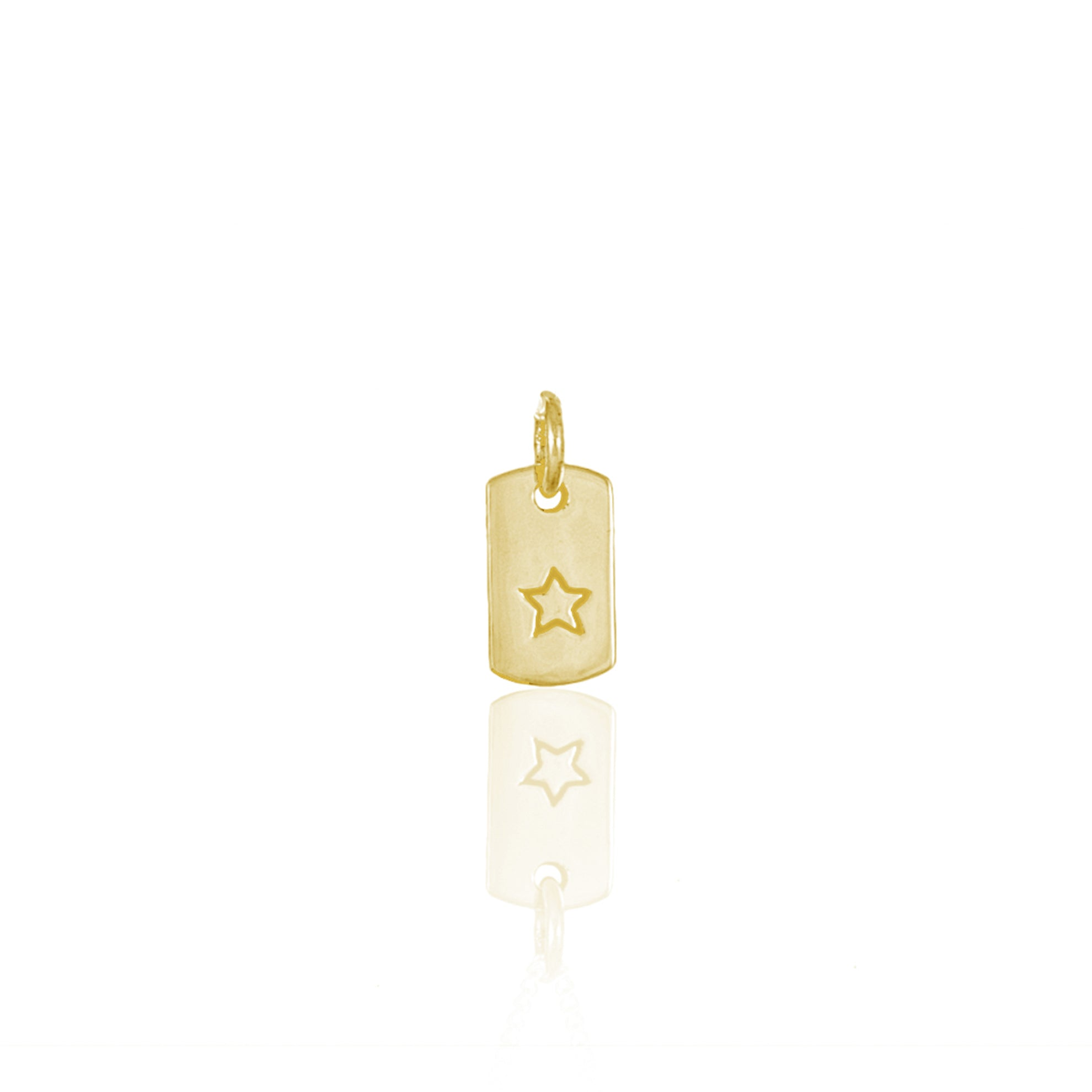 Starry Nights - Rectangle Charm - Gold