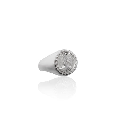 Luna and Rose Frida Kahlo MAGDALENA SIGNET RING - SILVER
