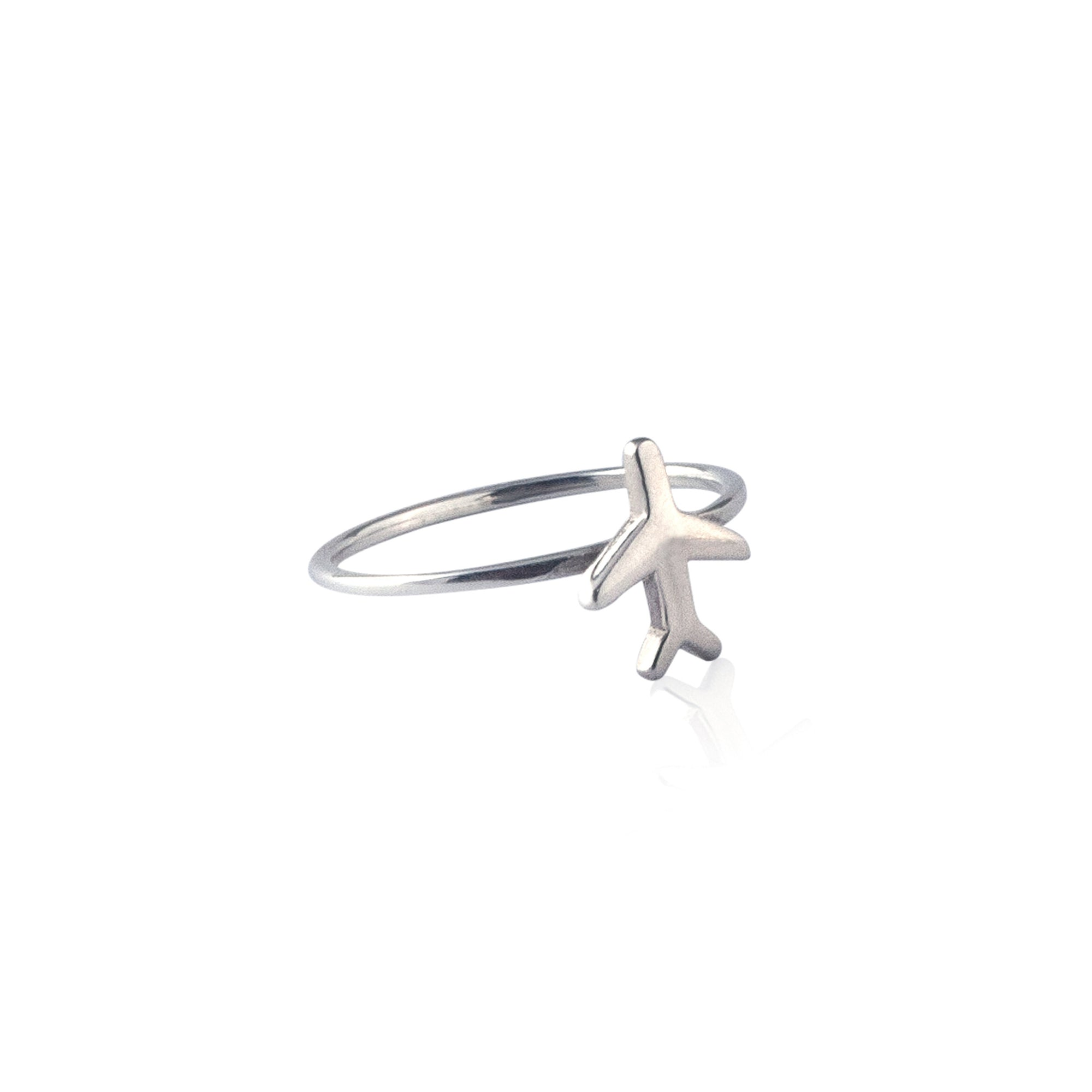 Just Plane Adventurous Travel Inspired Ring - La Luna Rose Jewellery
