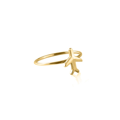 Just Plane Adventurous Charm Ring - Gold