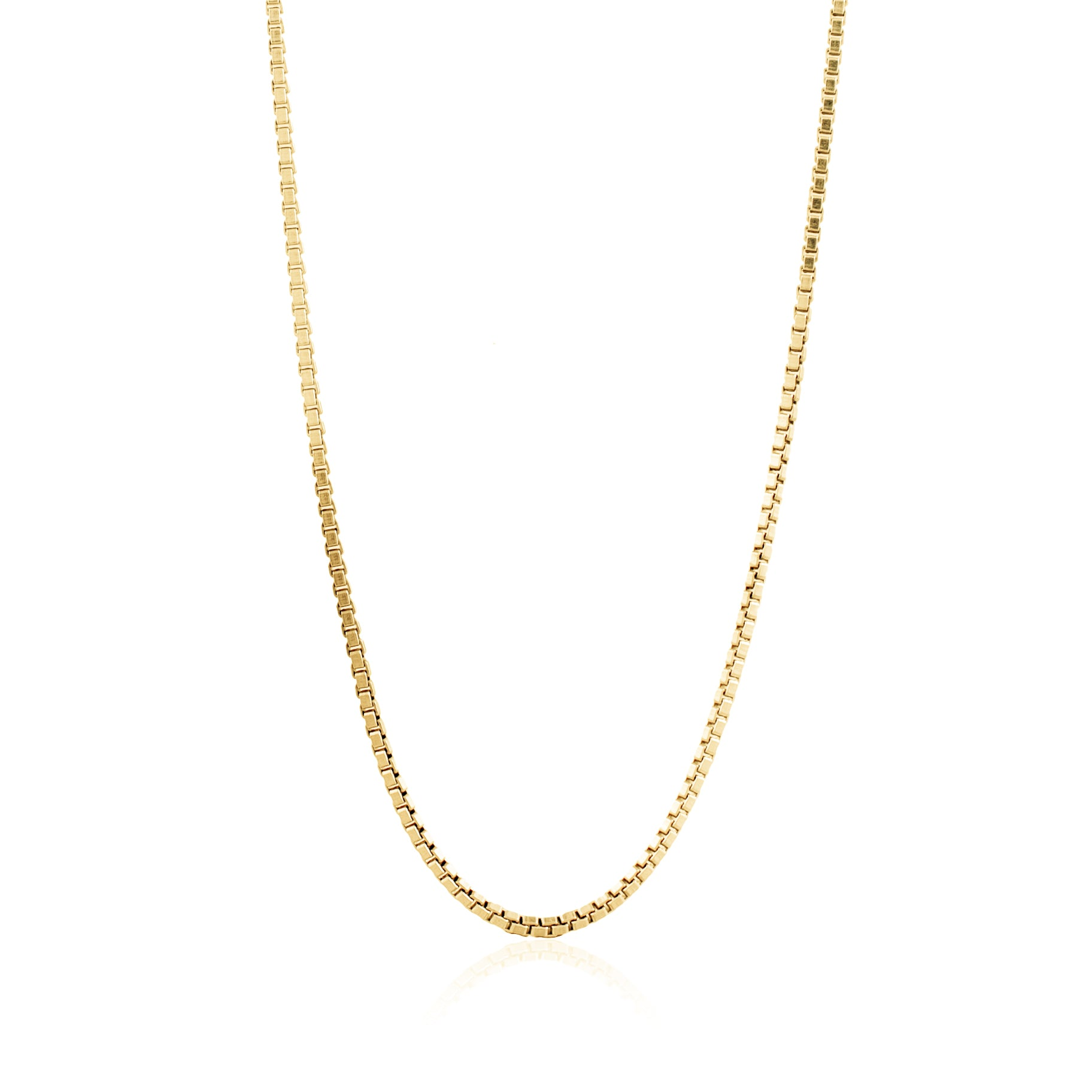 Luna & Rose Bahama Box Chain Necklace - Gold made from recycled Sterling Silver