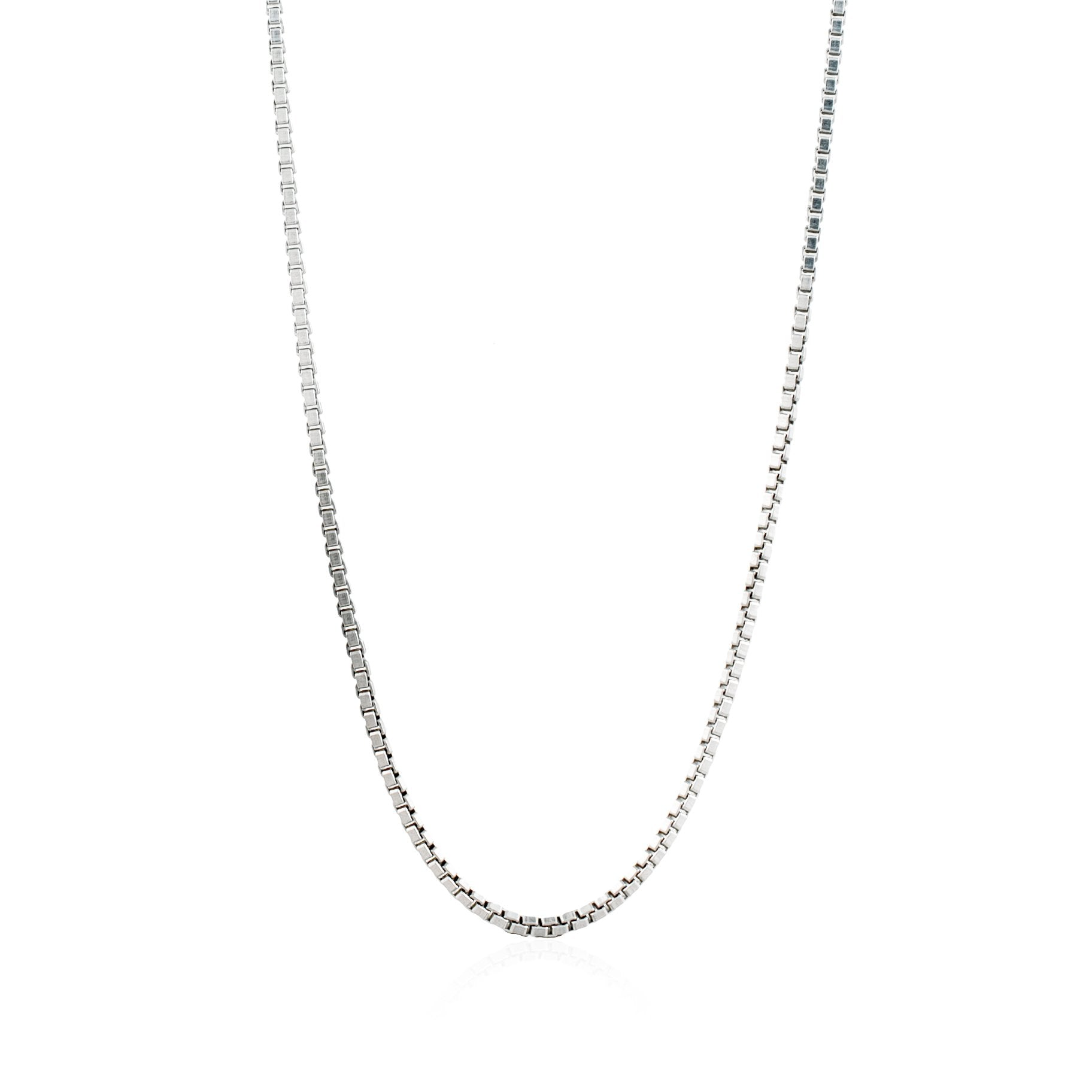 Luna & Rose Bahama Box Chain Necklace - Recycled Sterling Silver