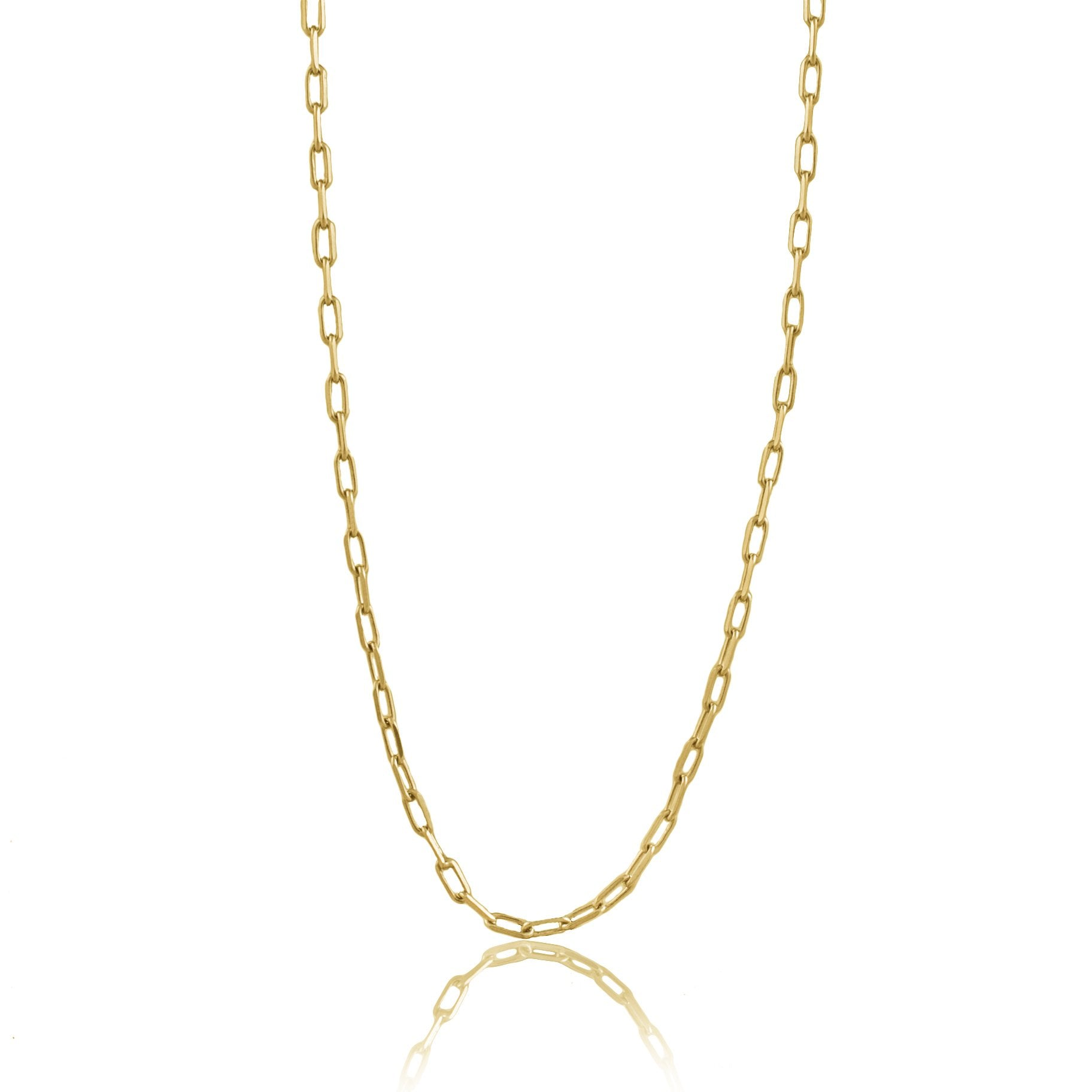 Luna & Rose Long Beach Link Chain - Gold from Recycled Sterling Silver