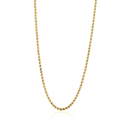 Rhode Island Twisted Rope Chain - Gold