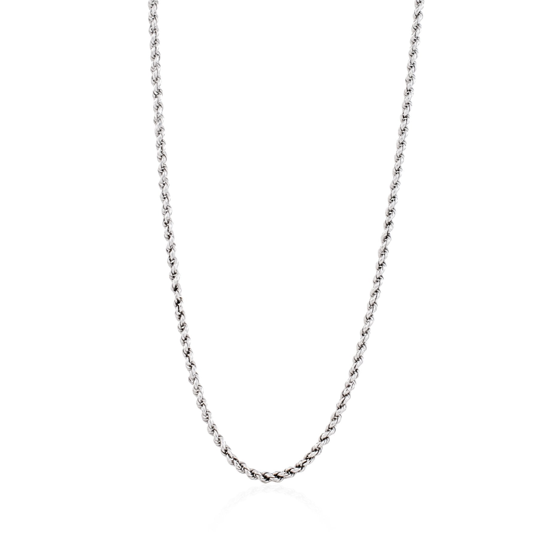 Rhode Island Twisted Rope Chain - Silver