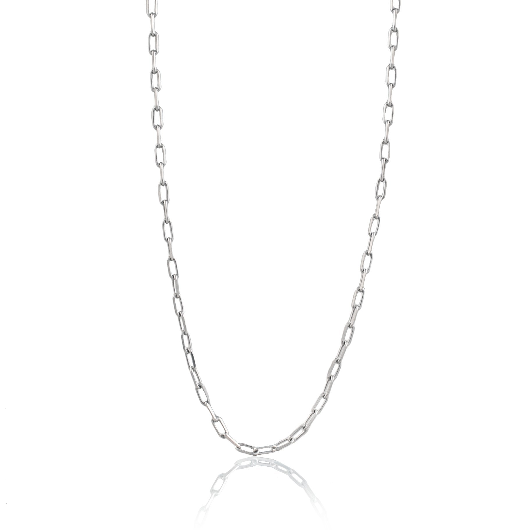 Luna & Rose Long Beach Link Chain - Silver