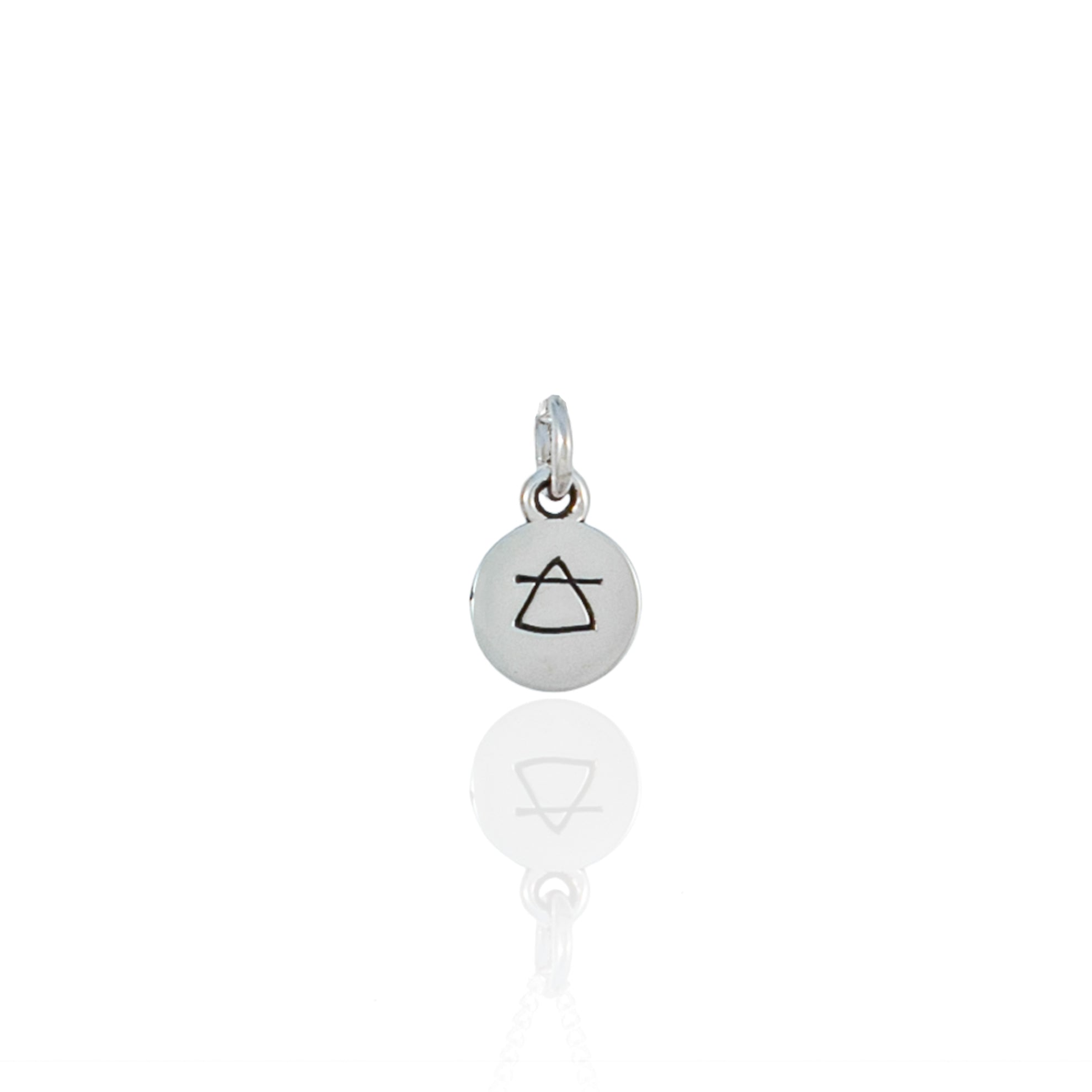 Air Sign Mini Charm - Silver