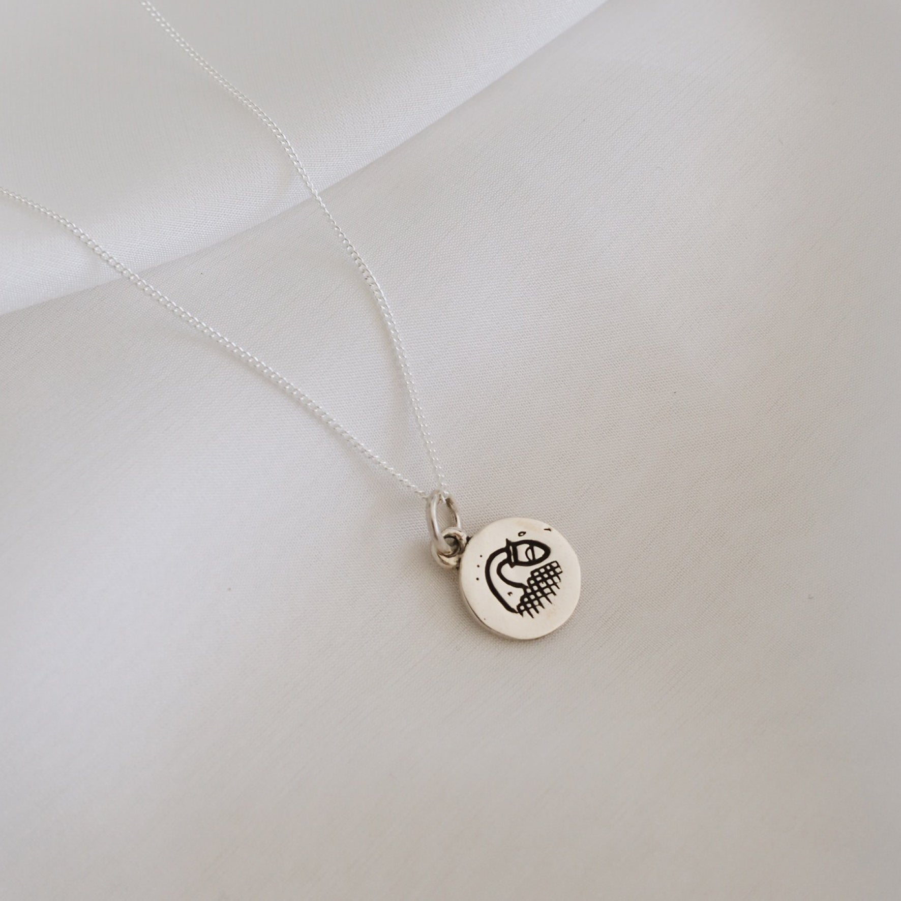 Aquarius Mini Zodiac Charm - Silver