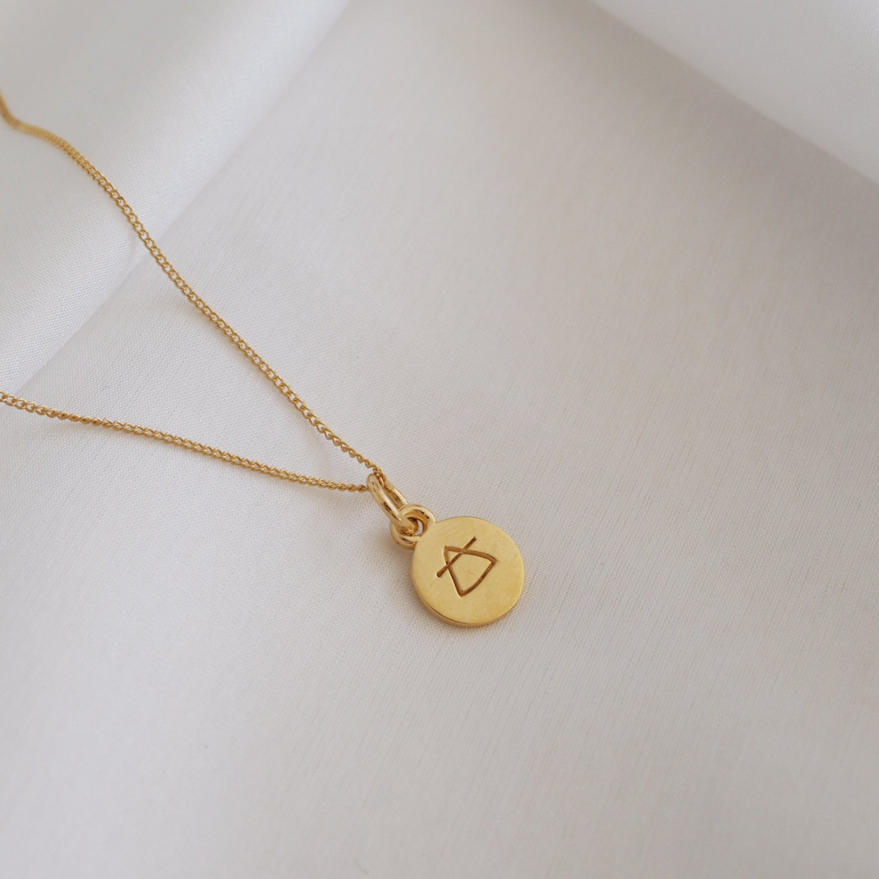 Air Sign Mini Charm - Gold