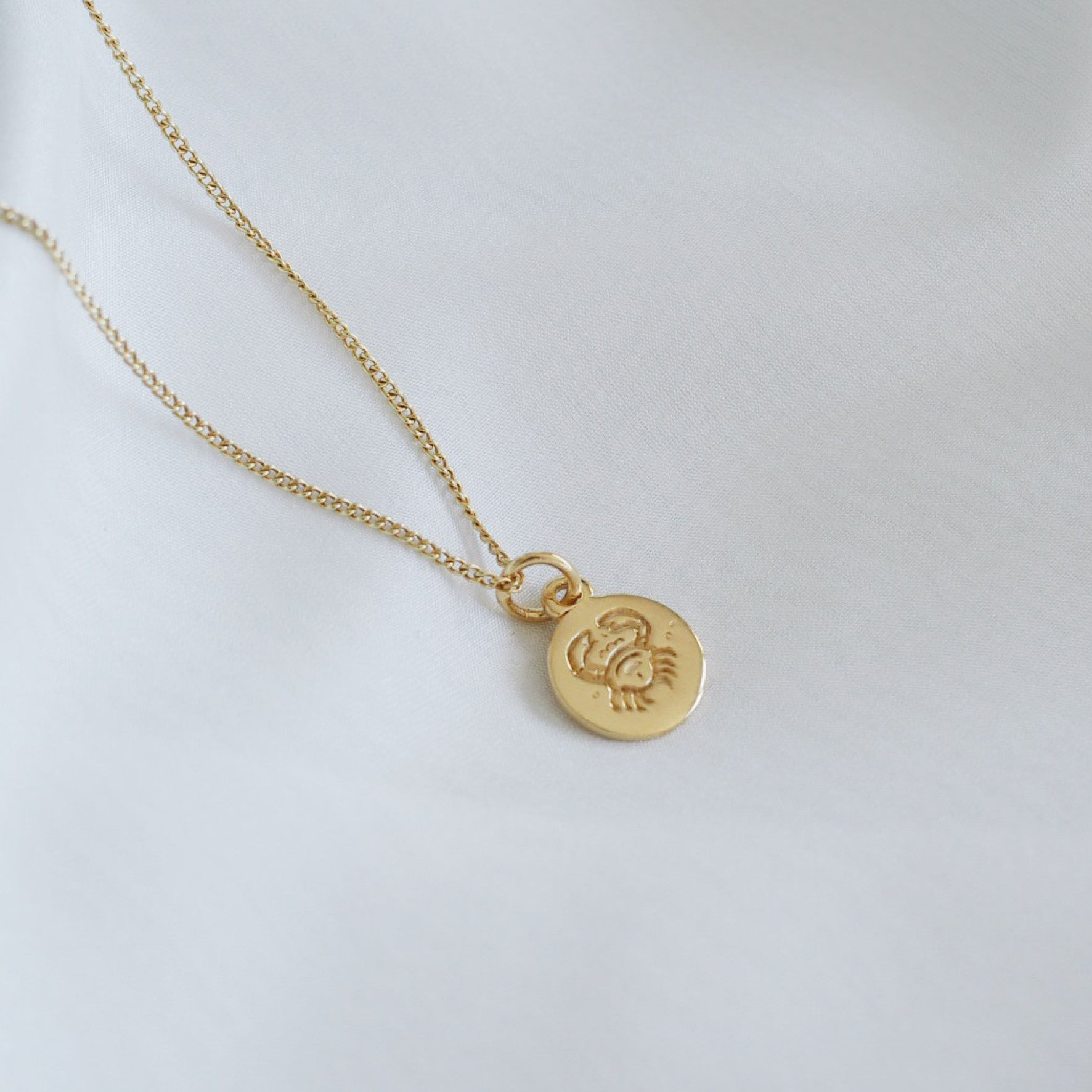 Cancer Mini Zodiac Charm - Gold