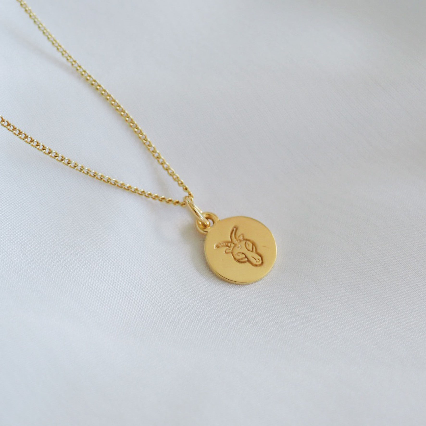 Capricorn Mini Zodiac Charm - Gold