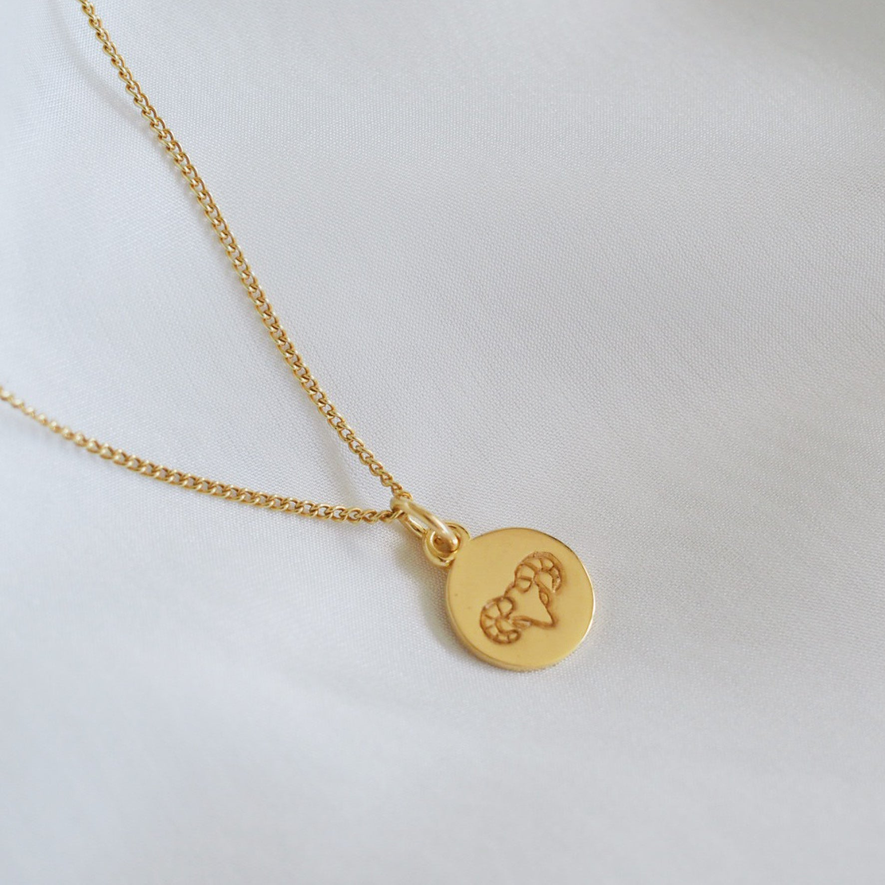 Aries Mini Zodiac Charm - Gold