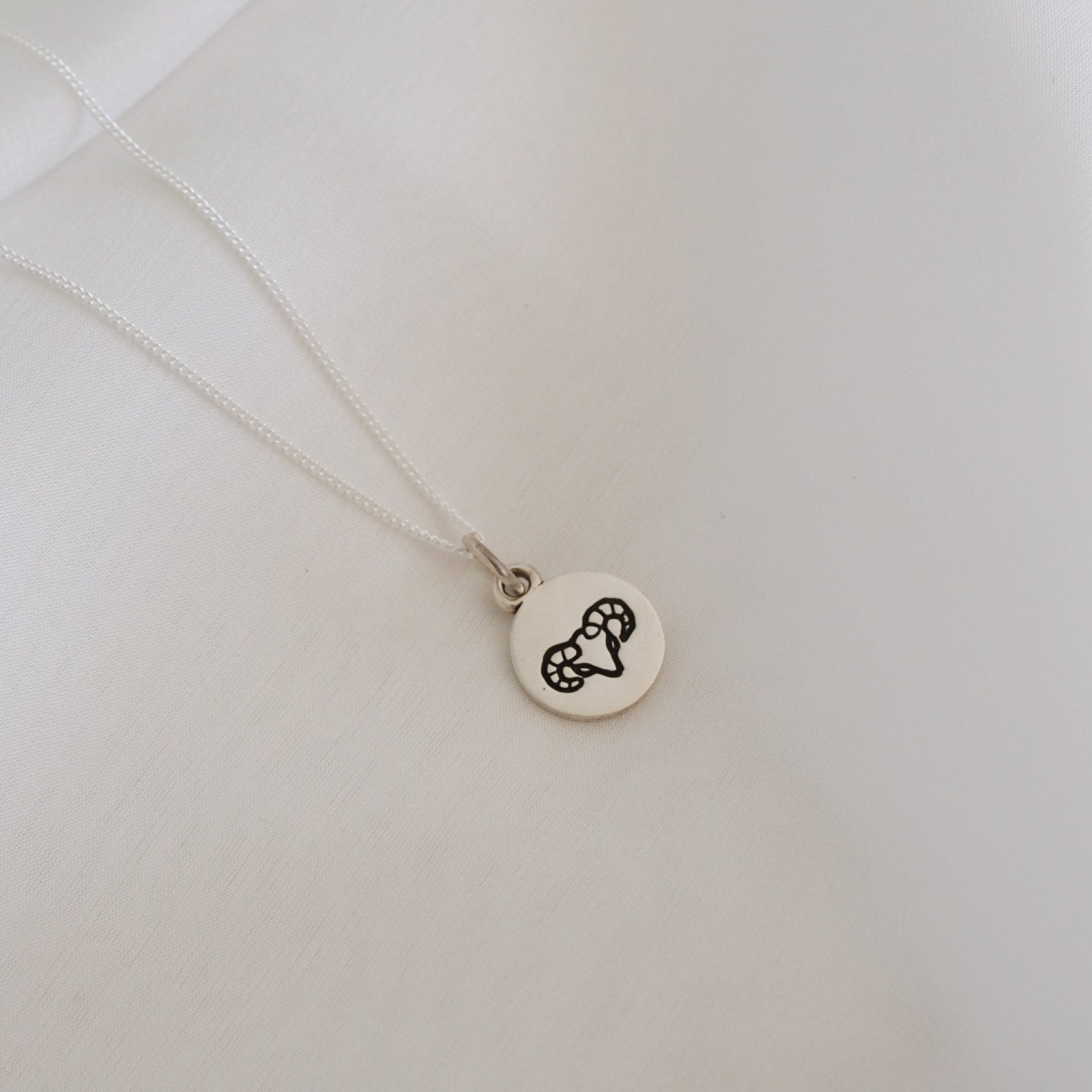 Aries Mini Zodiac Necklace - Silver