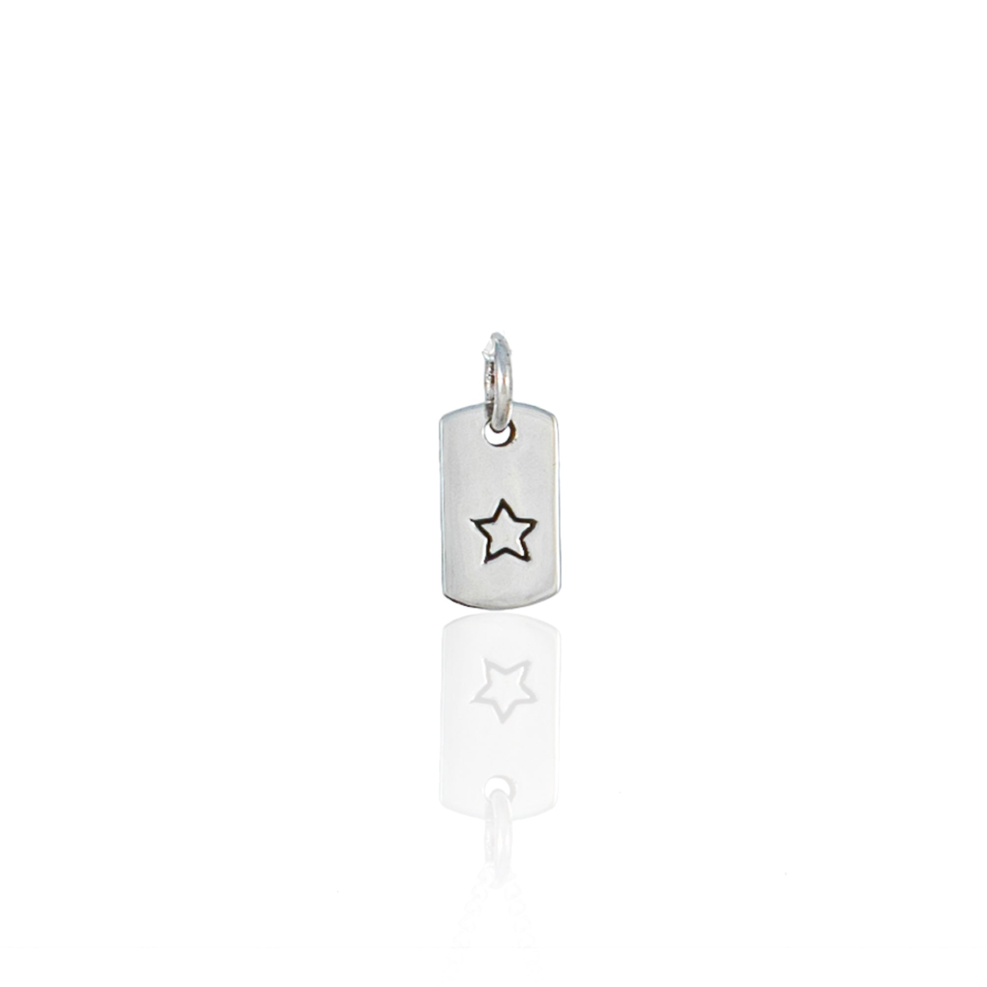 Starry Nights - Rectangle Charm - Silver