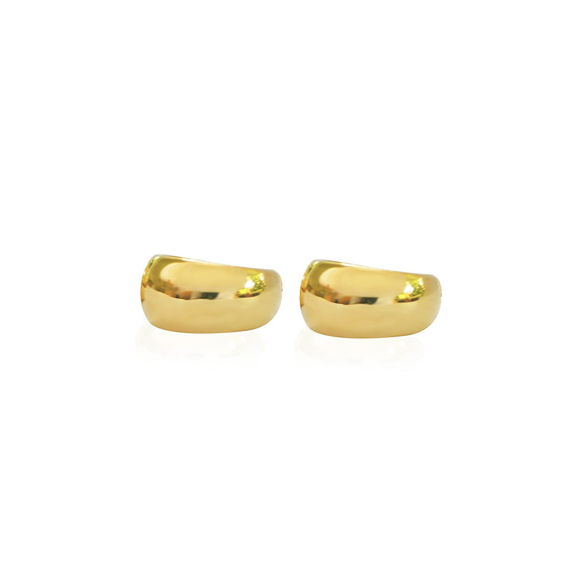 Recycled 9kt Solid Gold Smooth earrings