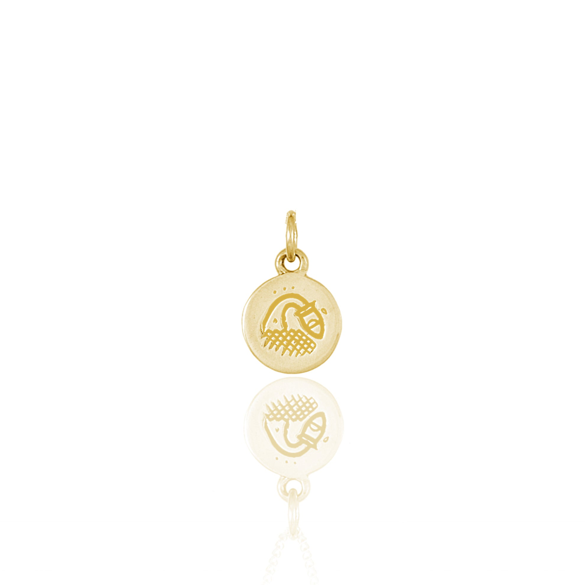 Aquarius Mini Zodiac Charm - Gold