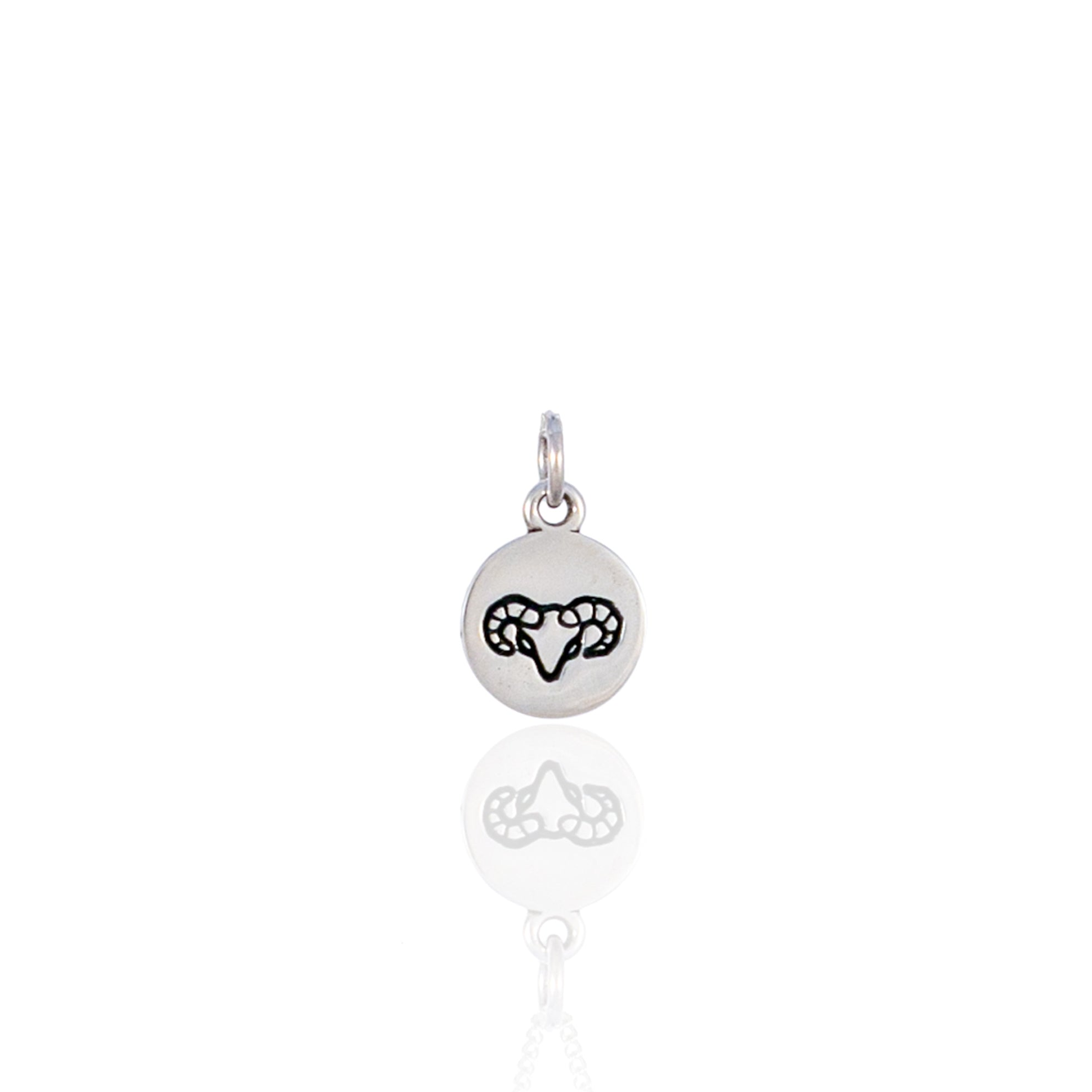 Aries Mini Zodiac Charm - Silver