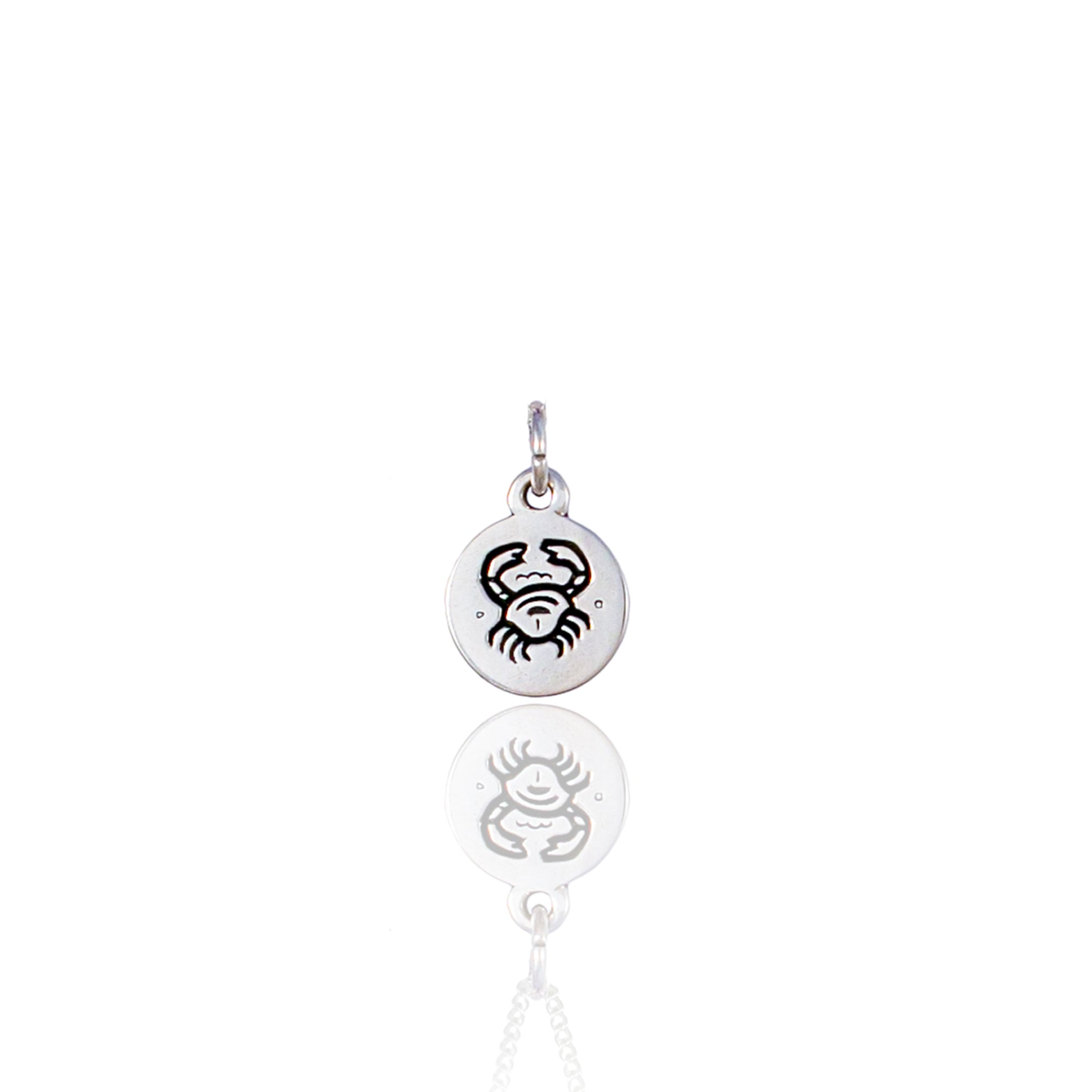 Cancer Mini Zodiac Charm - Silver