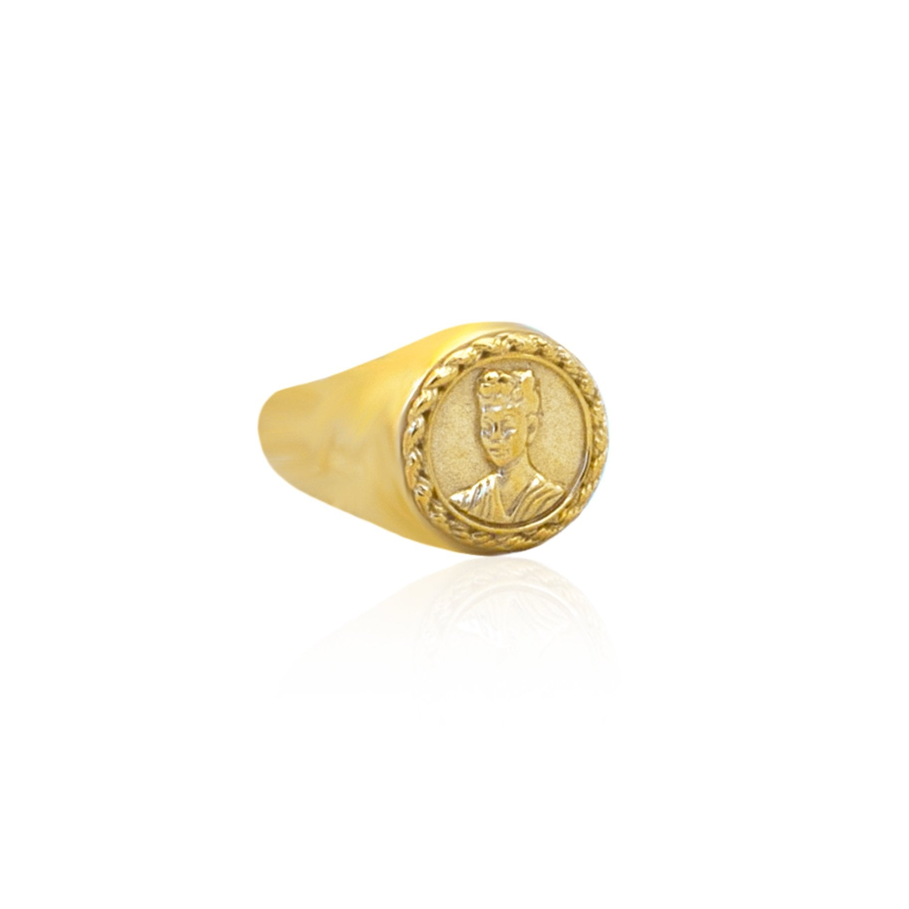 MAGDALENA SIGNET RING - GOLD