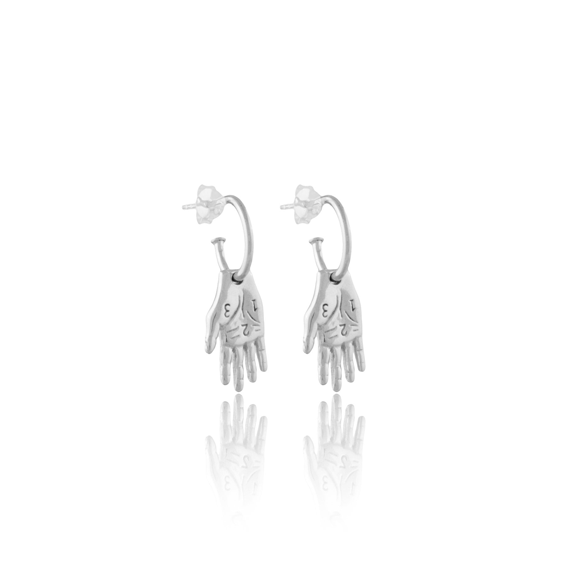Mano Amiga Silver hand Earrings from Frida Kahlo Inspired jewellery