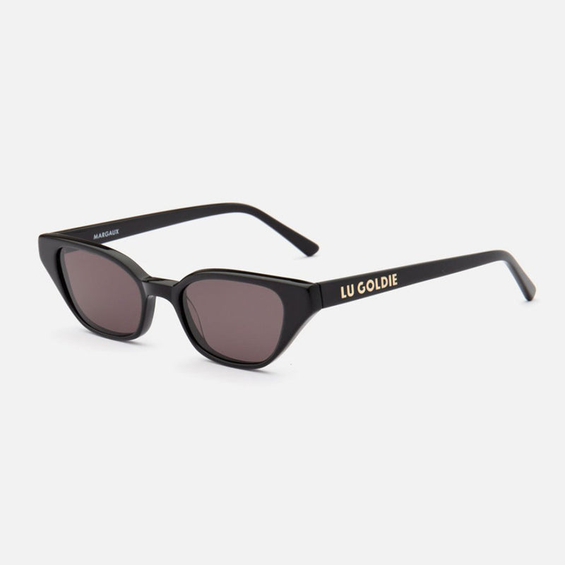Lu Goldie - Margaux Black Sunglasses
