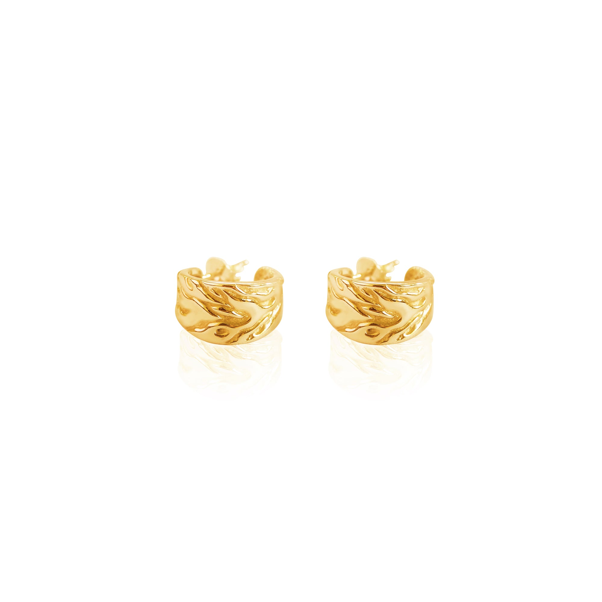 Solid 9kt Gold Mini Monterey Hoops