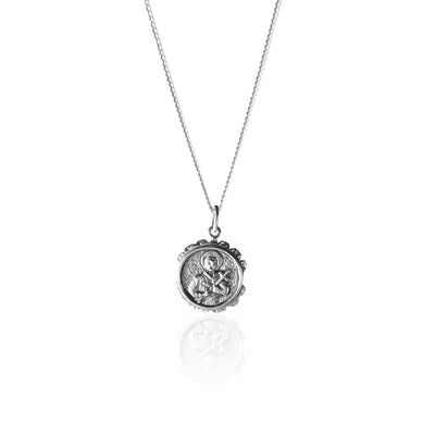 St Gerard - Patron Saint of Motherhood Pendant made from 99% Recycled Sterling Silver