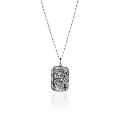La Luna Rose Patron Saint of Miracles Pendant Recycled Sterling Silver Australian Design