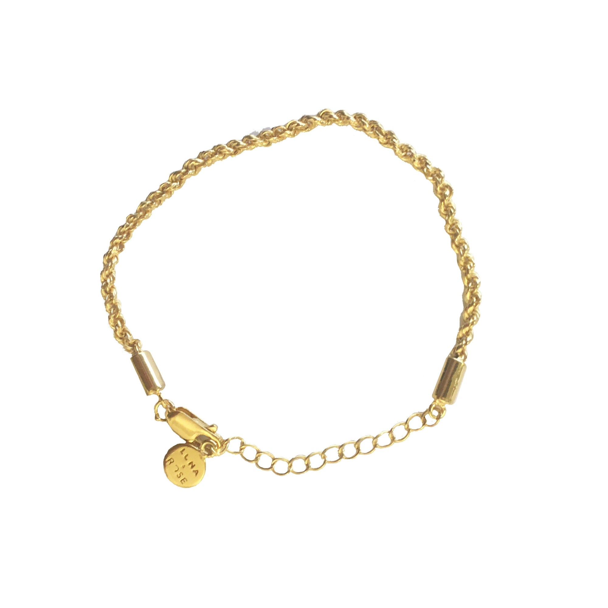 Rhode Island Rope Chain Bracelet in 18kt Gold