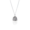 La Luna Rose Patron Saint of Animals Pendant Necklace in Silver