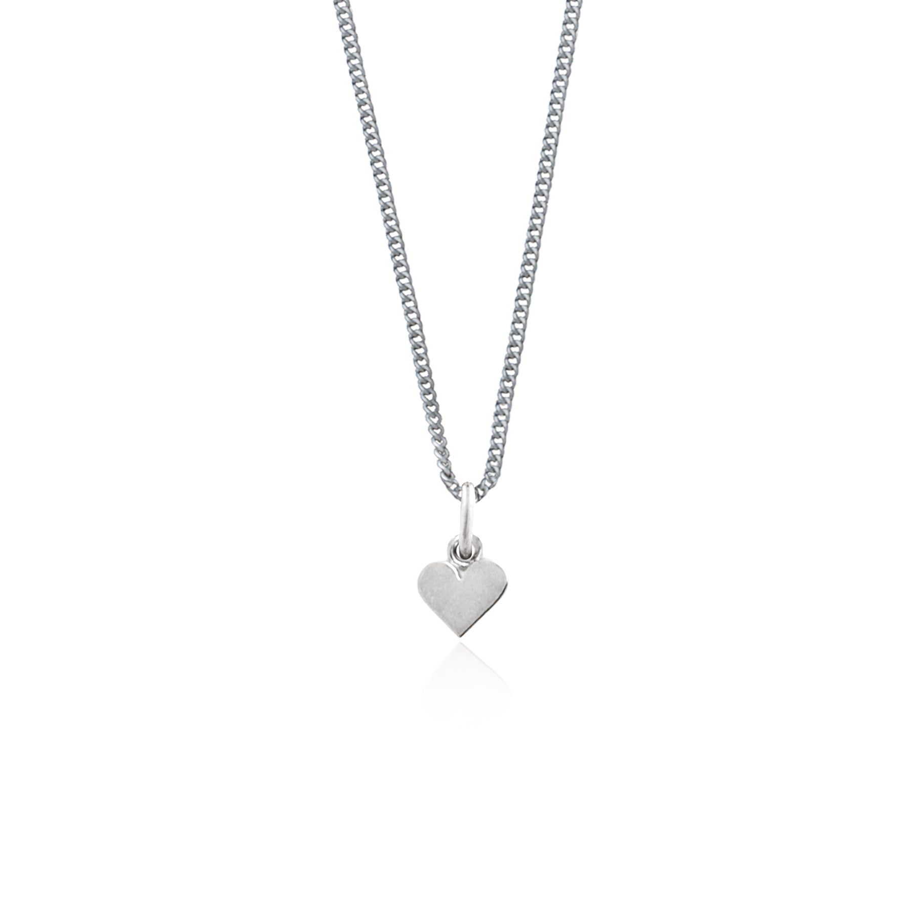 Single Heart of Gold Necklace - (Silver)