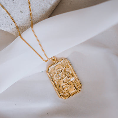 Solid 9kt Gold St Anthony Necklace