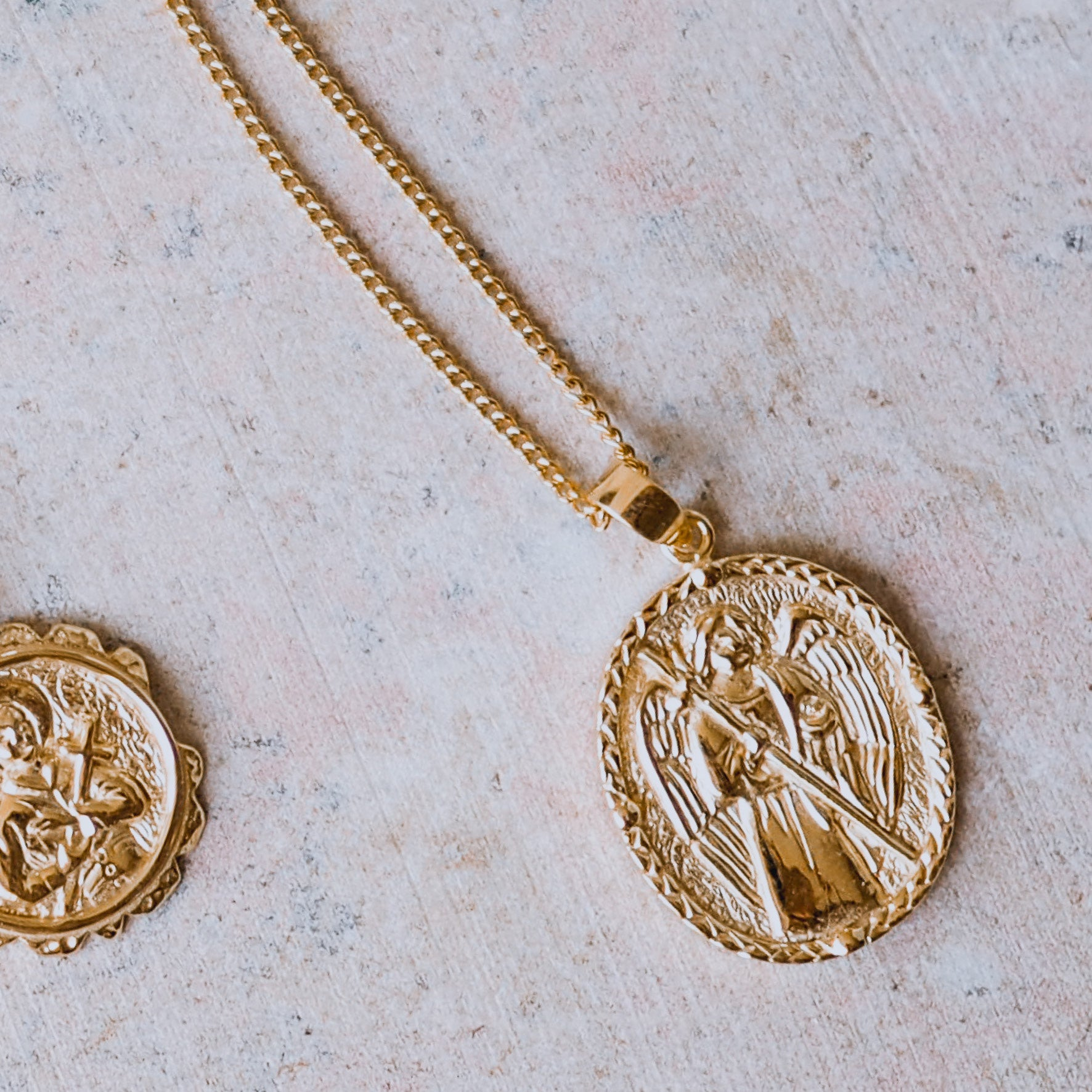 St Raphael - Patron Saint of Happy Meetings, Doctors & Nurses - Gold Pendant Necklace