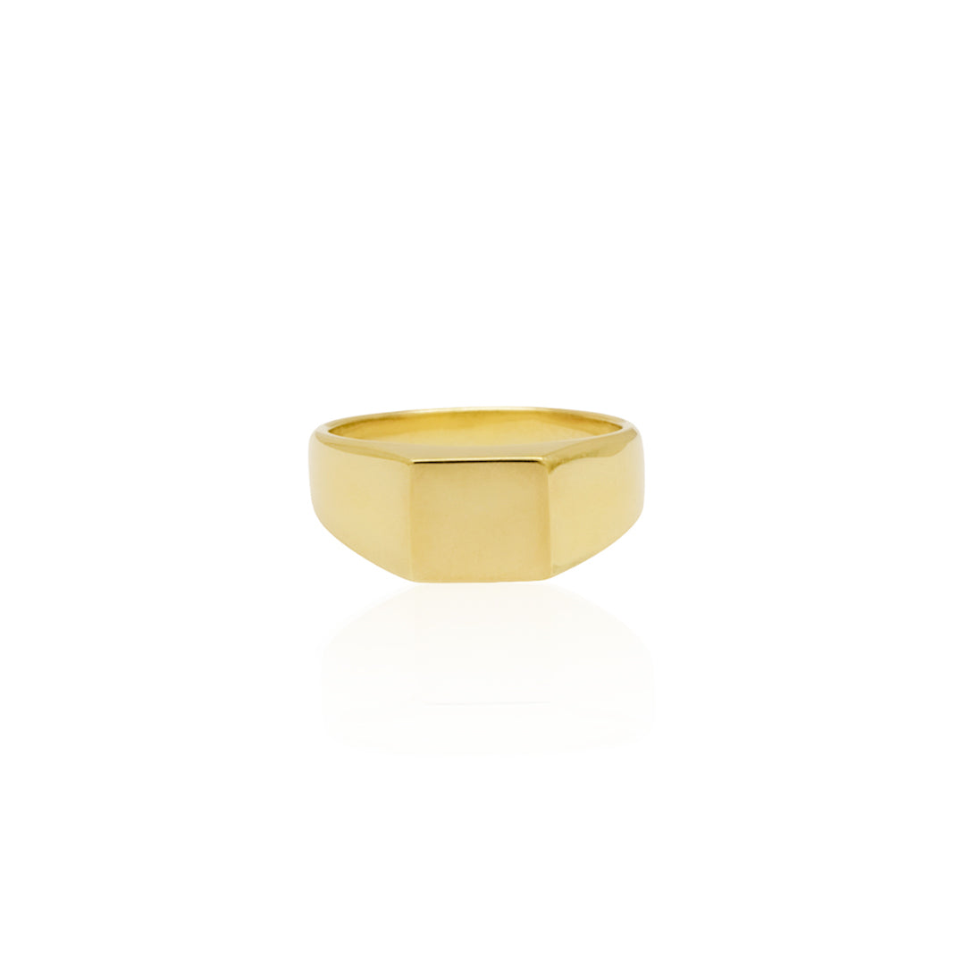 Classic Square Signet Ring - Gold