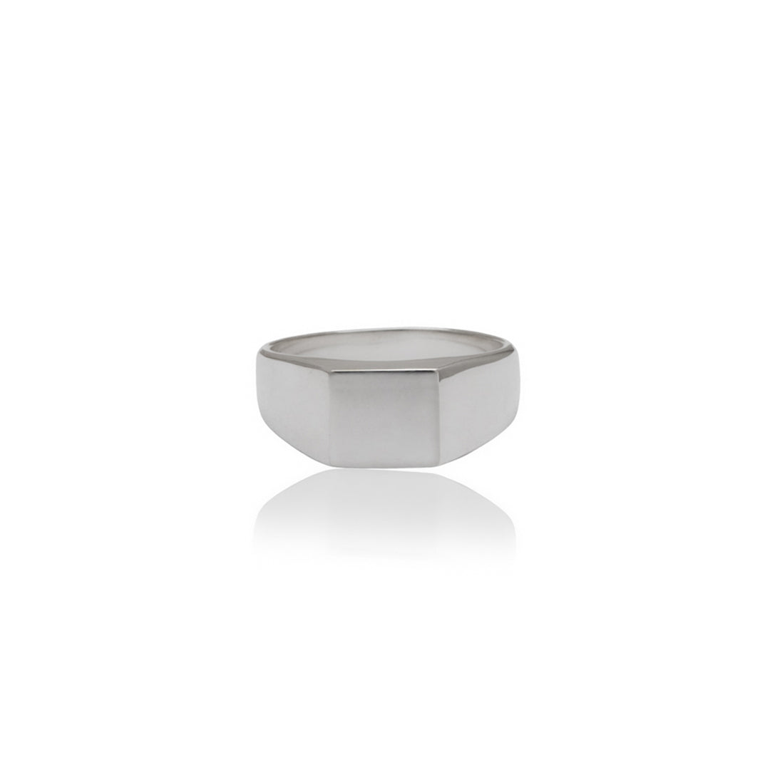Classic Square Signet Ring - Silver