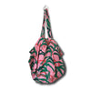 La Luna Rose Tropical Palm Printed Tote Bag in Pink