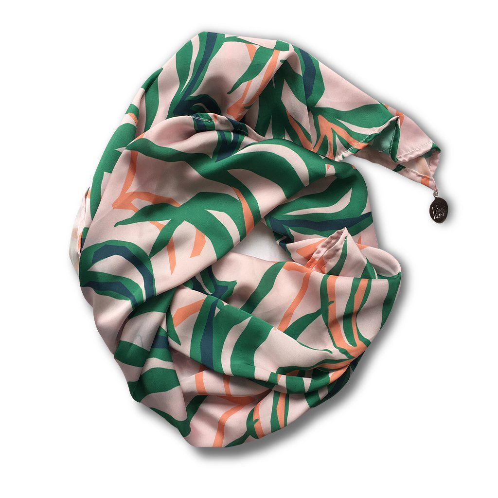 Penida Palm Printed Scarf - Tropical Pink Colour