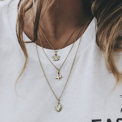 Sustainable necklace layering