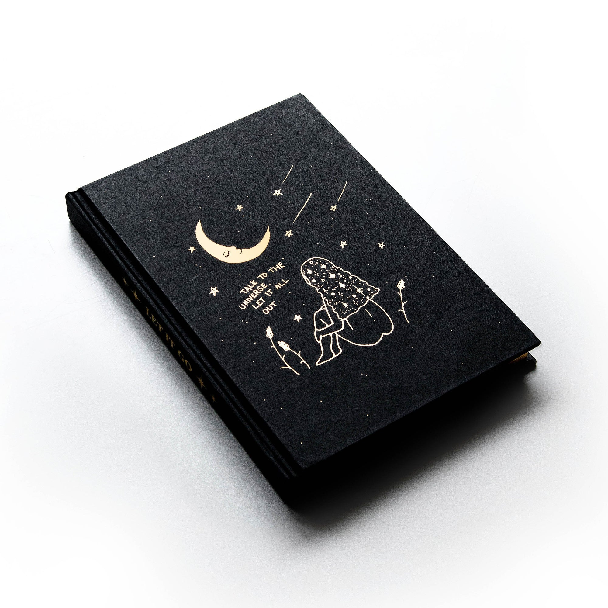 Let it Go Hardcover Journal Luna & Rose Dreamy Moons Zodiac