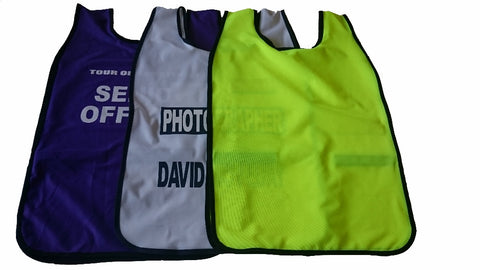 Printed and Plain Event Bibs