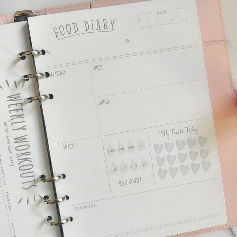 Food journal Fox and Moon planner