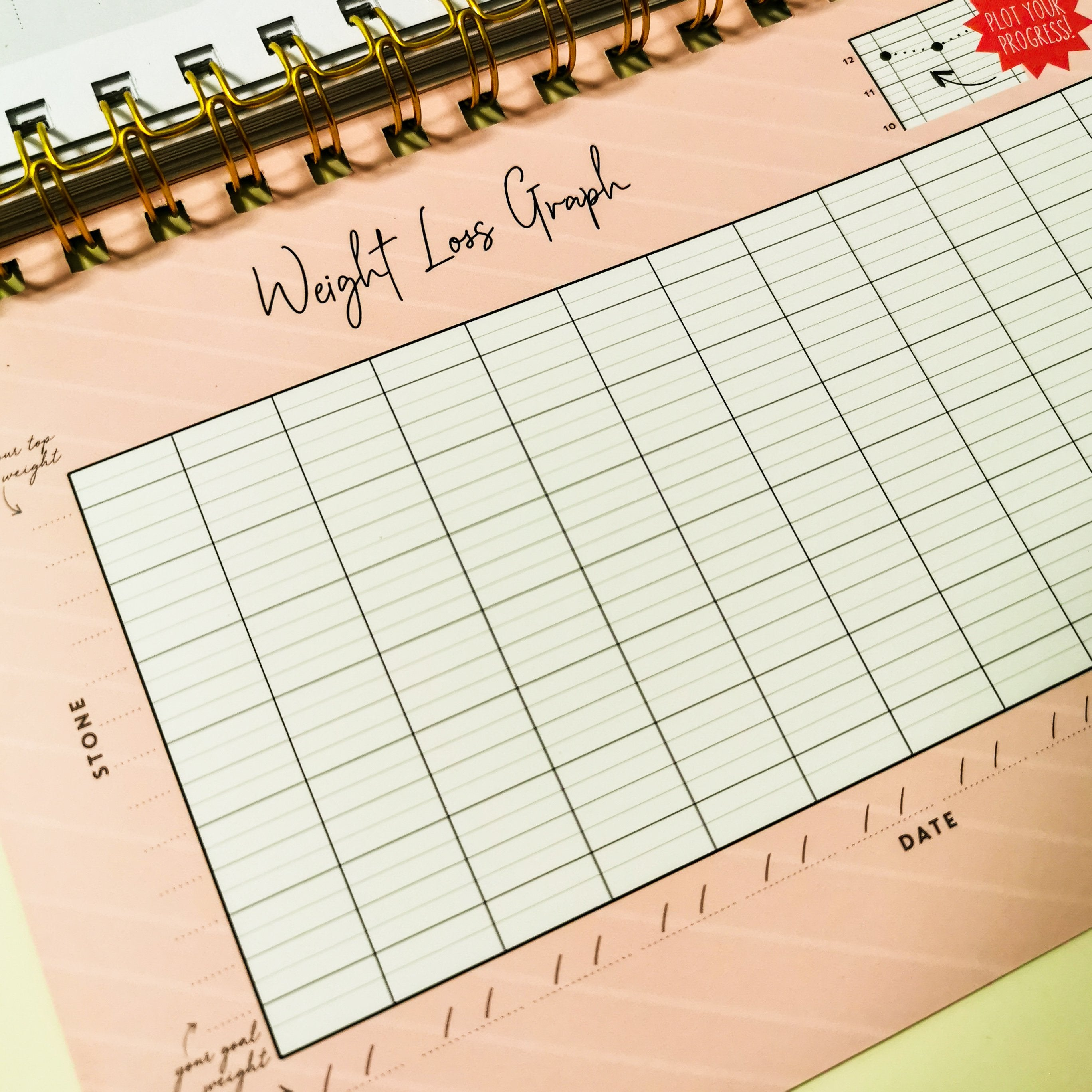 NEW Black Food & Fitness Planner