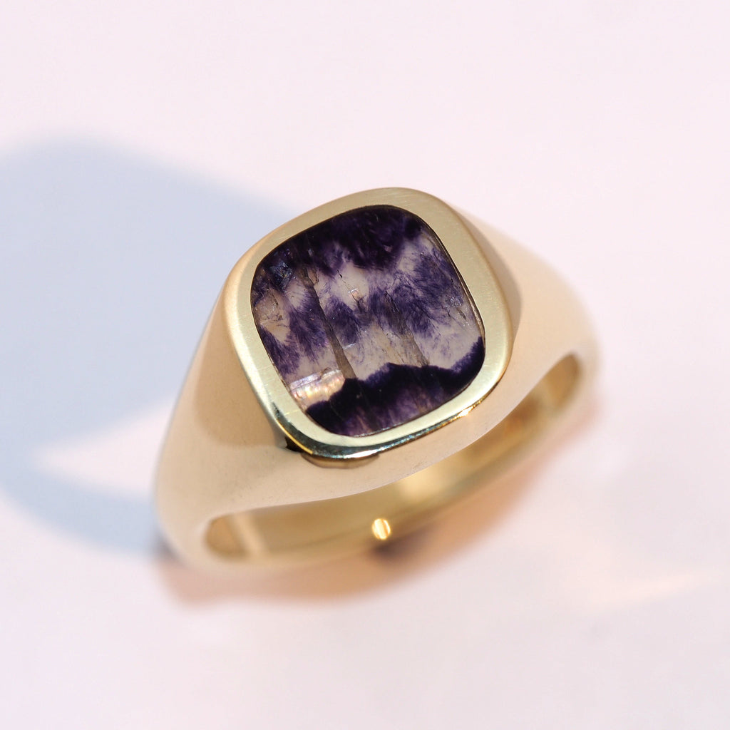 Blue John Signet Ring