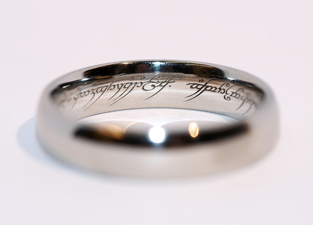 Elvish Script Wedding Band